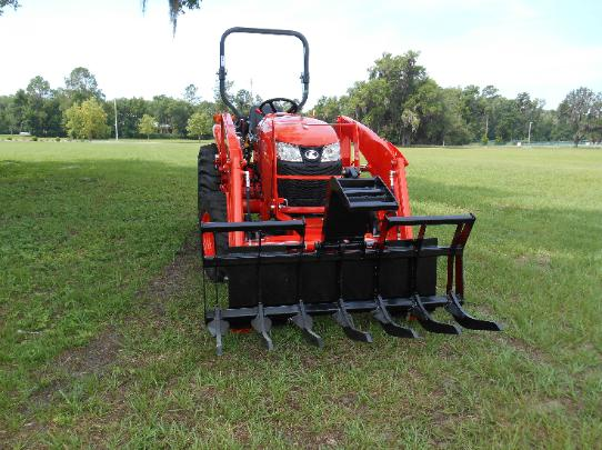 3901 kubota compact tractor grapple,the best tractor grapple,high quaility rake attachment