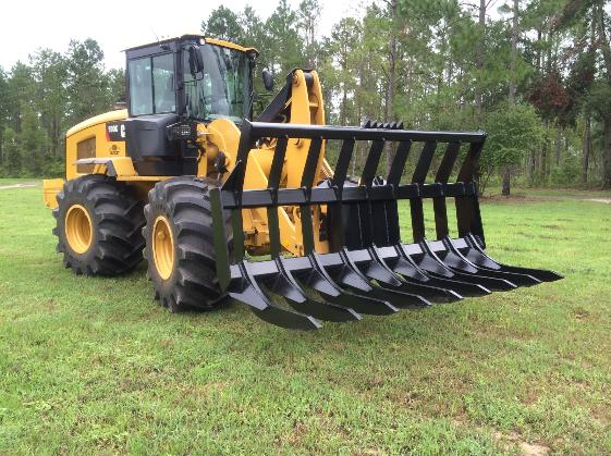 caterpillar heavy duty stacking root rake